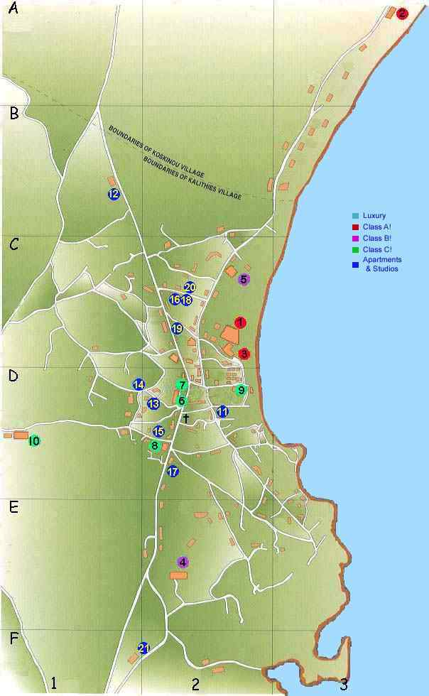 Map of Rhodes Town Greece Various maps of the island and resorts